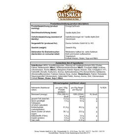 Energy OatSnack 290000 Sports Nutrition Vanilla-Apple-Cinnamon 65g